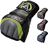 RDX MMA Gloves Sparring Martial Arts Grappling Maya Hide Leather Training UFC Fighting Combat...