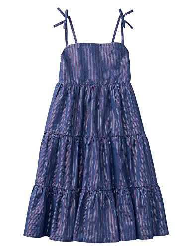 - Crazy 8 Girls' Little Sleeveless Casual Midi Woven Dress, Blue Lurex Stripe, L
