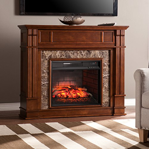 Southern Enterprises Herndon Infrared Electric Media Fireplace 48