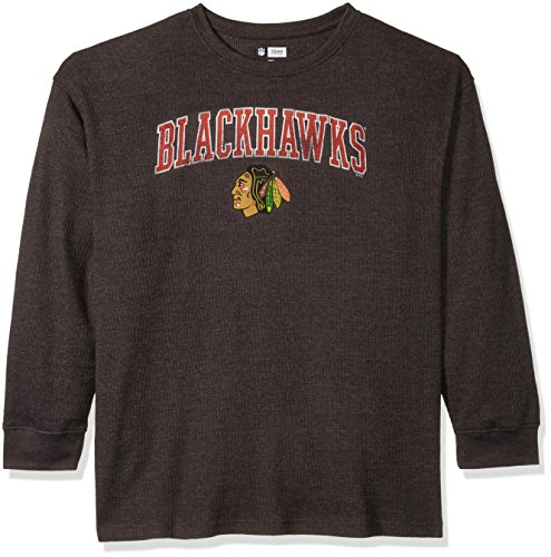 Chicago Blackhawks Long Sleeve Shirt - NHL Chicago Blackhawks Men's B&T Team Thermal Long Sleeve Shirt, 3X, Charcoal