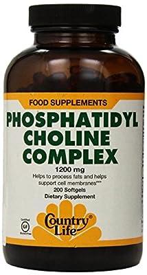 Country Life Phosphatidyl Choline Complex, 1200 mg, 200-Softgels