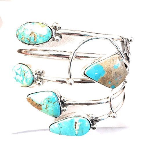 Signed Cuff Bracelet (Nizhoni Traders LLC Navajo Royston Turquoise And Sterling Silver Cuff Bracelet Signed)