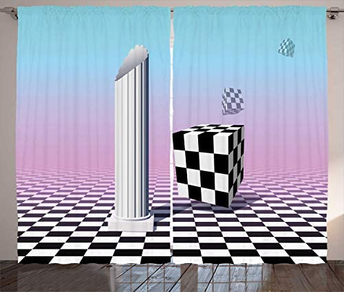 Ambesonne Vaporwave Curtains