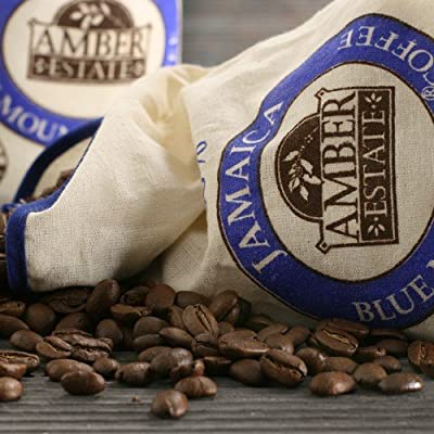 Amber Estate Jamaican Blue Mountain Whole Bean Coffee (8 ounce)
