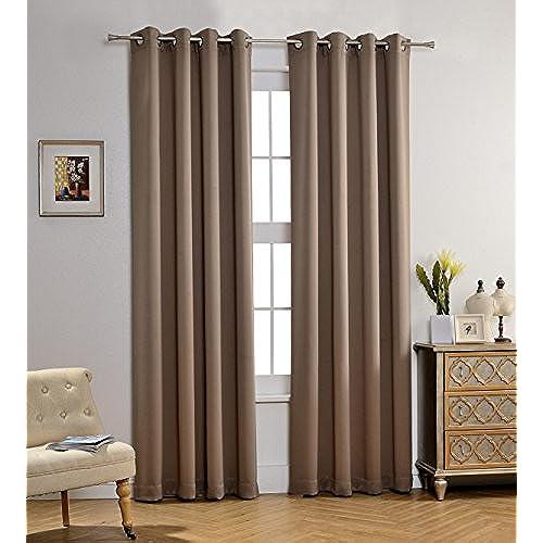Taupe Curtains Amazon Com