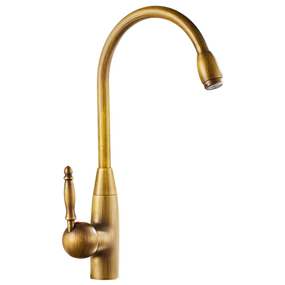 Copper Kitchen hot and Cold Faucet Antique Retro Faucet Sink Faucet Basin Faucet can be redated