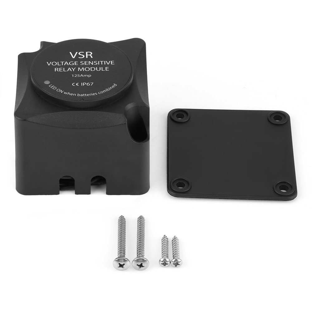 Smart 140 Amp Dual Battery Isolator, VSR Voltage Sensitive Relay Automatic Charging Relay Keenso