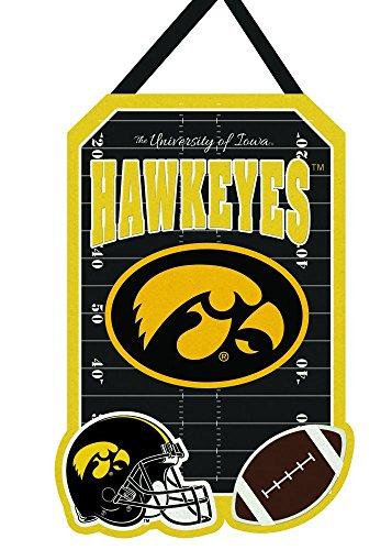 Team Sports America Iowa Hawkeyes Outdoor Safe Felt Door Decor