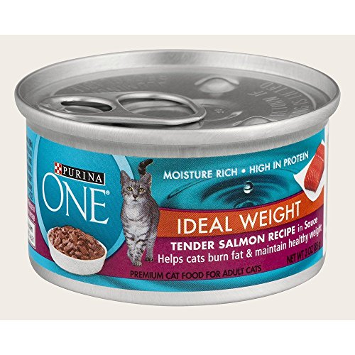 Purina One IDEAL WEIGHT Tender Salmon Recipe in Sauce (12-CANS) (NET WT 3 OZ EACH) (Weight One Healthy Purina)
