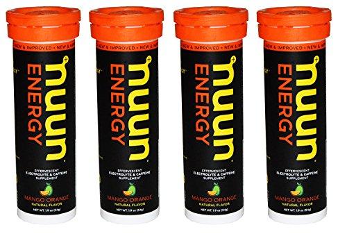 Nuun Energy Pack of 4, 1.9 oz. (Mango Orange)