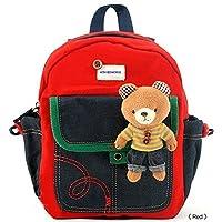 Arnés de seguridad para niños pequeños que caminan con un lindo osito de peluche /mochila conejito - Se venden y envían desde EE. UU. (Oso de peluche rojo)
