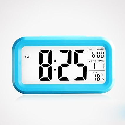 ZHGI pequeño despertador digital, sonido creative reloj, dormitorio estudiantil luz de noche, reloj