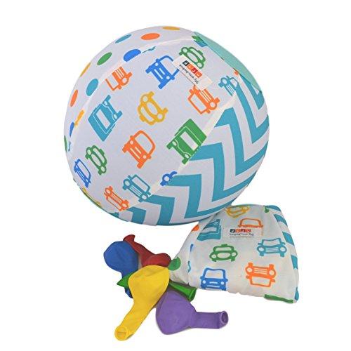 Daju Balloon Ball | Bouncy Toddler Ball | Fold Up, Take Anywhere Travel Ball | Reusable Fabric Cover for Balloons