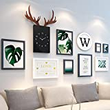Home@Wall photo frame Wood Photo Frames ,12 pcs/sets Collage Photo Frame Set,Vintage Picture Frames,Family Picture Frame Wall DIY Photo Frame Sets For Wall ( Color : D )