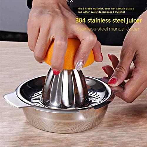 Limón naranja portátil manual de la fruta exprimidor 304 inoxidable accesorios de cocina de acero herramientas de cítricos 100% a mano en bruto presiona fabricante de jugos