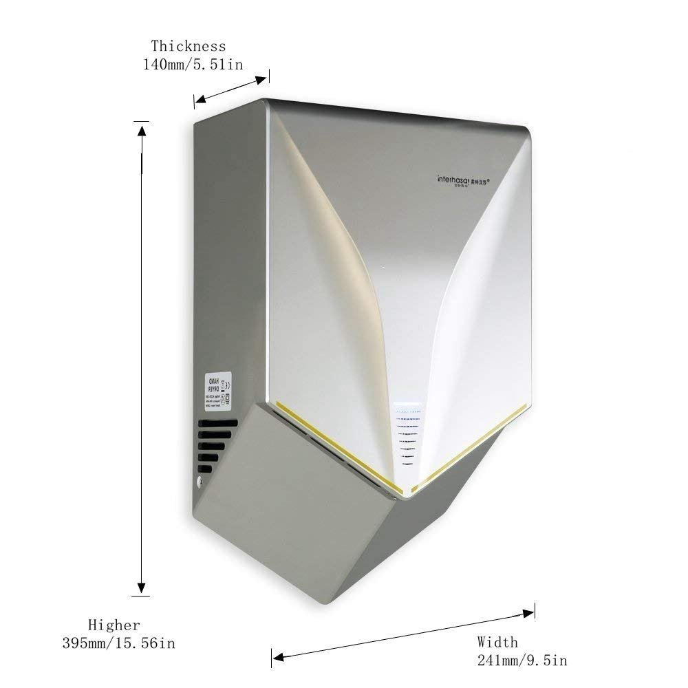 Amazon.com: interhasa! Automatic Hand air Dryer, Hand Dryer, for Home or Commercial Bathrooms, Hotel, Restaurant, Powerful 1000W, Voltage AC110V- Dry Hands ...