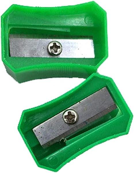 Manual de sacapuntas de l/ápiz trabajo de la escuela de pl/ástico solo agujero sacapuntas de l/ápiz para l/ápiz de cejas l/ápiz delineador de ojos l/ápiz 10pcs color al azar