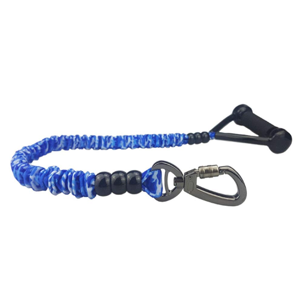 Dog Explosion-Proof and Shockproof Elastic Telescopic Traction Belt, Suitable for Small and Medium Dogs, Camouflage bluee