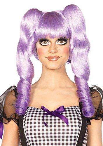 [Leg Avenue Women's Dolly Bob Wig, Lavender, One Size] (Purple Dolly Wig)