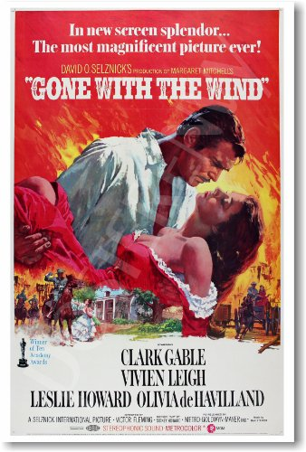 Gone with the Wind - NEW Vintage Movie - Poster Gable Movie