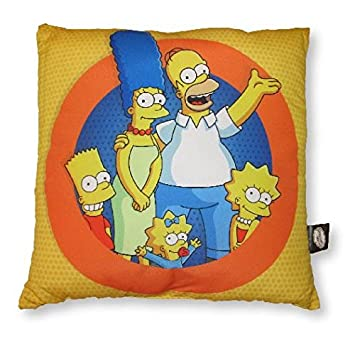 Amazon.com: The Simpsons familia Círculo Amarillo Cojín ...