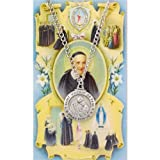 St Vincent De Paul 3/4-inch Pewter Medal Pendant with Holy Card