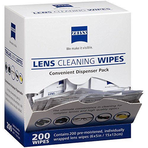 Zeiss Pre-Moistened Lens Cleaning Wipes - Cleans Without Streaks for Eyeglasses and Sunglasses - (200 - Lens From Glasses Remove