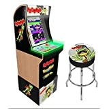 Arcade1Up Frogger Home Arcade Machine, 3 Games In 1, 4 Foot Cabinet with 1 Foot Riser - Electronic Games (Color: Frogger)