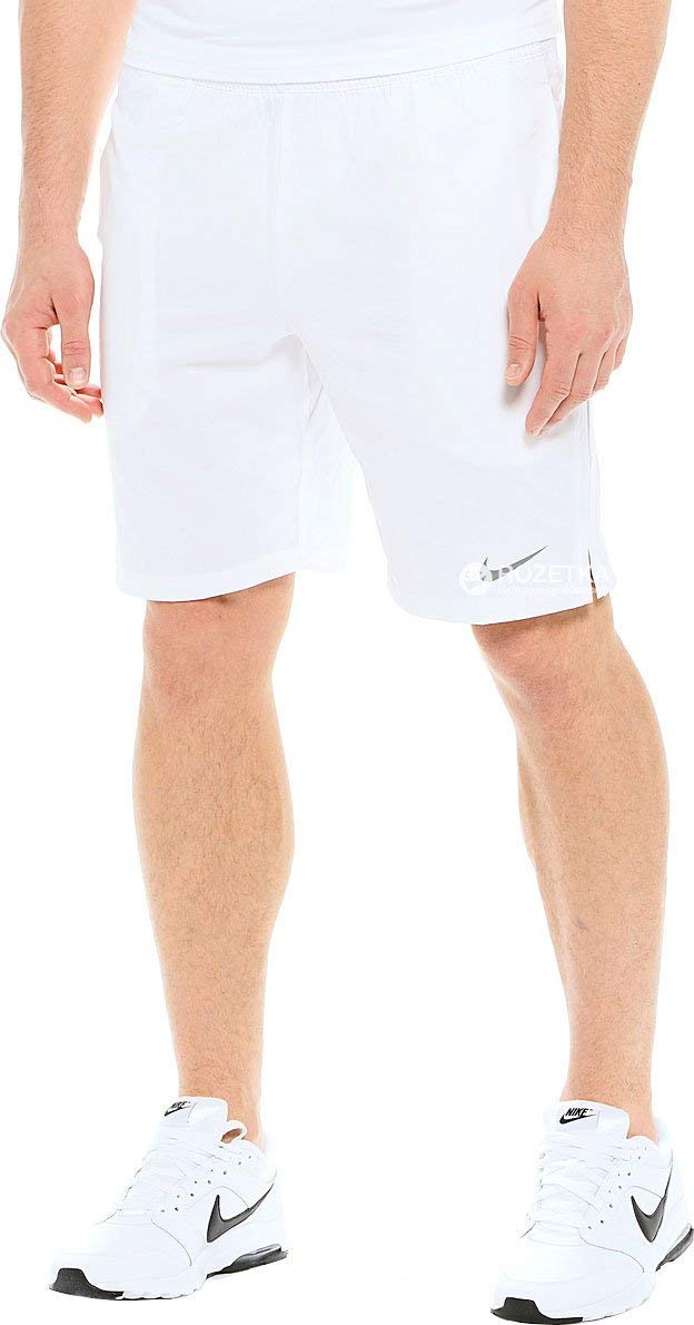 Nike Men's Court 9'' Short, White/Cool Grey by Nike (Image #3)