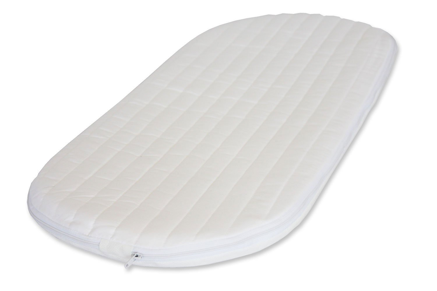 66 x 28 x 3.5 cm NightyNite Ambassador Moses Basket Mattress with Luxury Quilted Microfibre Cover NIghtyNite® AMB6628
