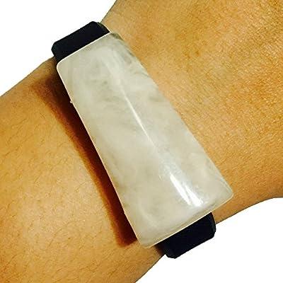 Fitbit Alta, Fitbit Flex, Fitbit Flex 2 Jewelry to Accessorize Your Fitness Activity Tracker Bracelet - Asymmetrical Thick Faux Marble Opaque Stone DOVER Charm Bracelet Accessory