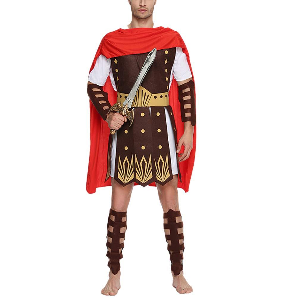 BESTOYARD Halloween Alten römischen Gladiator Kleidung Alten römischen Gladiator Kostüme Kostüme Erwachsene Kleidung Größe XL