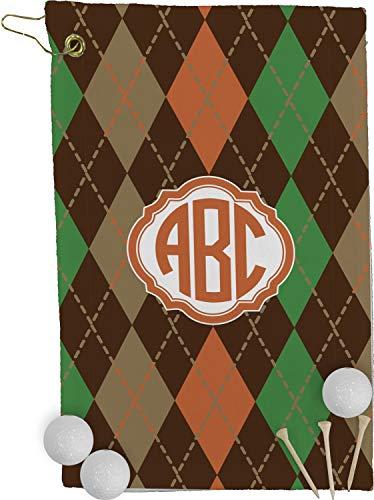 Argyle Golf Towel - YouCustomizeIt Brown Argyle Golf Towel - Full Print (Personalized)