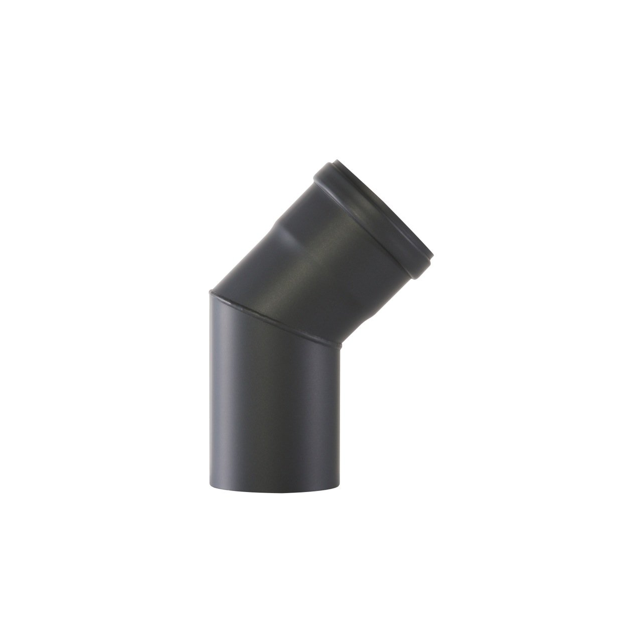 Kamino-Flam 45° Elbow Pipe Ø 100 mm, Steel Elbow Pipe Suitable for Pellet Stoves, Senotherm Coated Elbow Chimney Pipe, Heat Resistant Flue Elbow with Silicone Seal, EN 1856-2 Standard, Black Kamino - Flam 122684