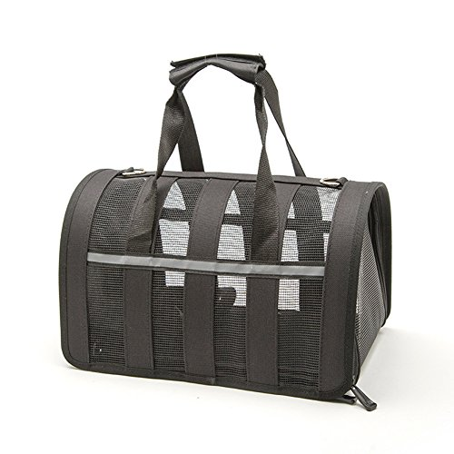 Pethouzz Pet Carrier for Cat & Small Dogs,Under Seat Compatability,Pet Travel Bag (Small, Black) by PETHOUZZ