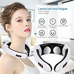 Back And Neck Massager Heating Pain Relief Health Care Relaxation Tool Intelligent Cervical Massager XZWLD
