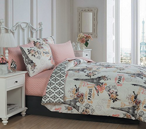 Avondale Manor 8-piece Cherie Comforter Set Queen, Coral - Manor Comforter Set