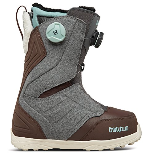 thirtytwo LASHED DOUBLE BOA W'S '17, Grey/Brown, 7.5 (Two Mens Lashed Thirty)