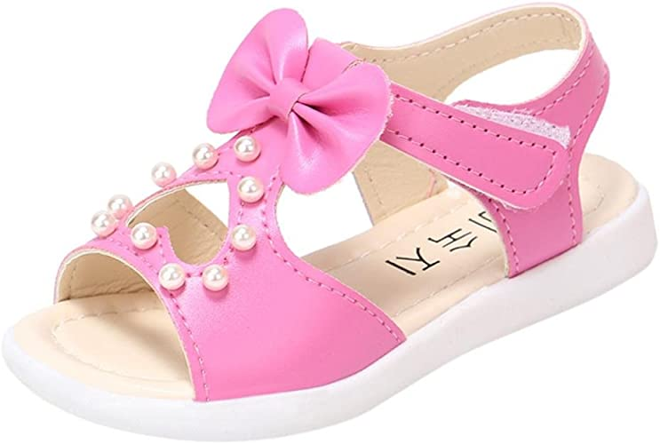 Witspace Baby Girls Bowknot Princess Dress Shoes Kids Summer Cool Flat Sandals