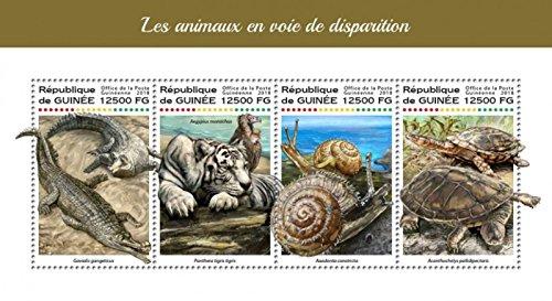 USPS Guinea - 2018 Endangered Animals - 4 Stamp Sheet - ()