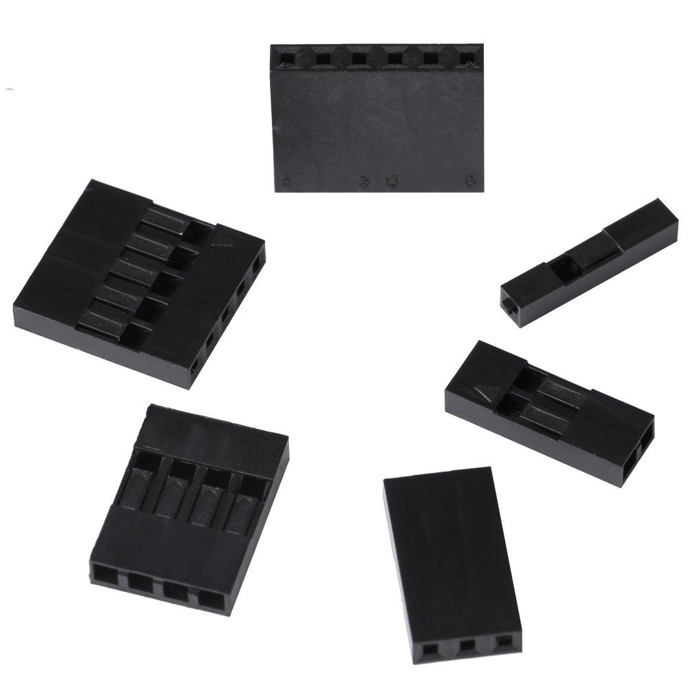 370/pcs m/âle et femelle Dupont Jumper connecteur de fils /à sertir broches terminal Assortiment Housing Kit avec plastique Transparent Box-packed