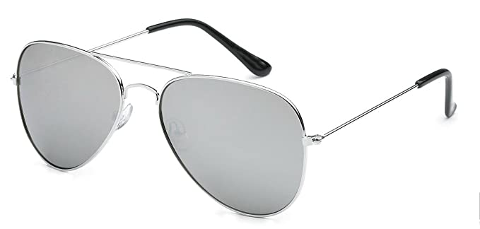 3467355f2f WebDeals - Aviator Silver Mirror or Color Mirror Metal Frame Sunglasses  (Air Force