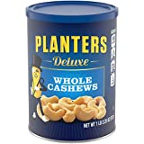 PLANTERS Deluxe Whole Cashews, 18.25 oz. Resealable Jar | Energizing Snack Roasted in Peanut Oil with Sea Salt | Nutrient-Dense Snack & Good Source of Magnesium