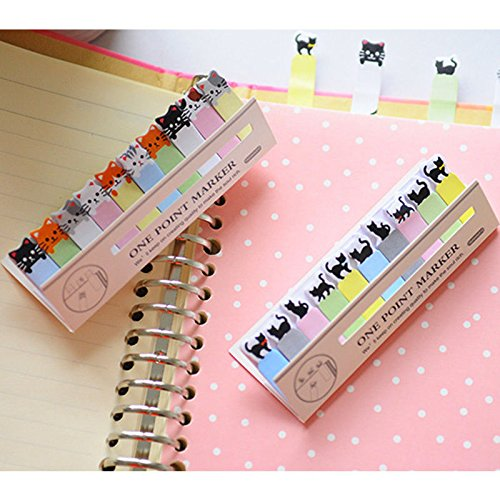 xeno lovely cats sit in rows sticky notes cartoon memo pad student
