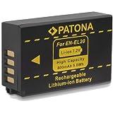 "Bundlestar * Qualitätsakku für Nikon EN-EL20 EN-EL20a - Intelligentes Akkusystem - 100% kompatibel - - ""neueste Generation"" für -- Nikon DL24-500 1 AW1 J1 J2 J3 S1 V3 COOLPIX A -- Blackmagic Pocket Cinema"