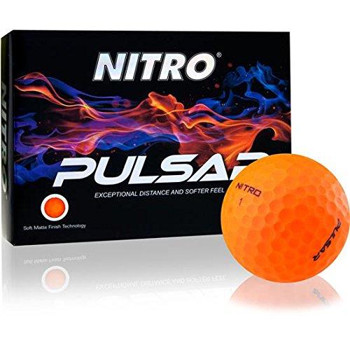 Nitro Pulsar ゴルフボール マット仕上げ オレンジ   B07Q6ZWKSS