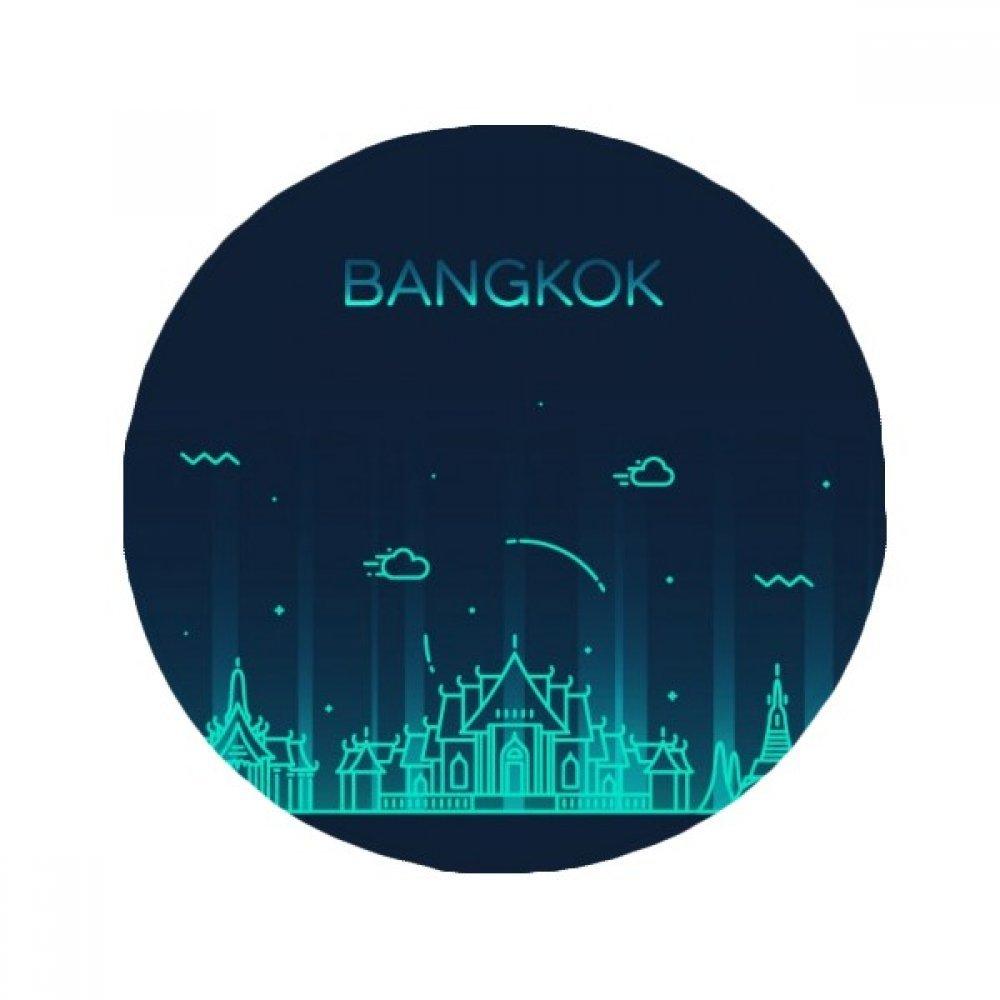 DIYthinker Thai Customs Culture Shadow Bangkok Anti-slip Floor Pet Mat Round Bathroom Living Room Kitchen Door 80cm Gift