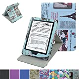All-New Kindle E-Reader (8th Generation 2016) Case,Mama Mouth Vertical Viewing Stand PU Leather Cover with Auto Wake/Sleep for Amazon All-New Kindle (6' Display, 8th Gen 2016 Release),Newspaper