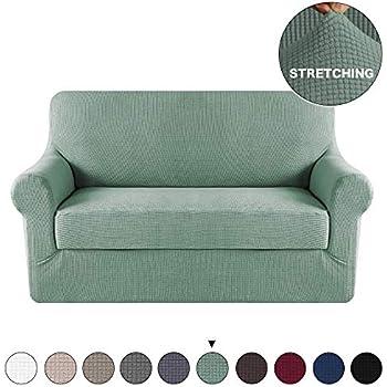 Astonishing Amazon Com Subrtex 2 Piece Spandex Stretch Slipcover Onthecornerstone Fun Painted Chair Ideas Images Onthecornerstoneorg