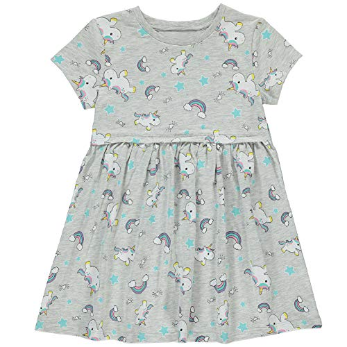 Frogwill Girls Green Dinosaur Tunic Short Sleeve Summer Casual Dress 2-7T (5T, Unicorn2) -
